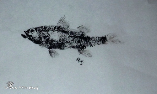 Gyotaku black-bass collection
